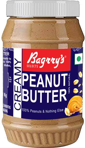 Bagrry's Natural Peanut Butter, Creamy, Unsweetened 1 kg