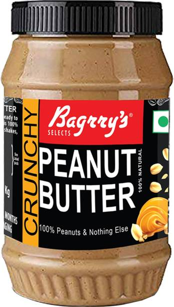 Bagrry's Peanut Butter Crunchy 1 KG Unsweetened 1 kg