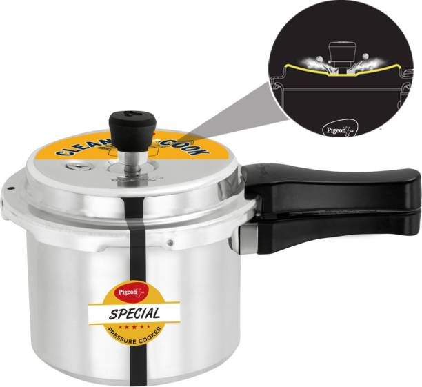 Pigeon Special Spill Free Clean Cook Induction Bottom Aluminium Pressure Cooker 3 L Induction Bottom Pressure Cooker