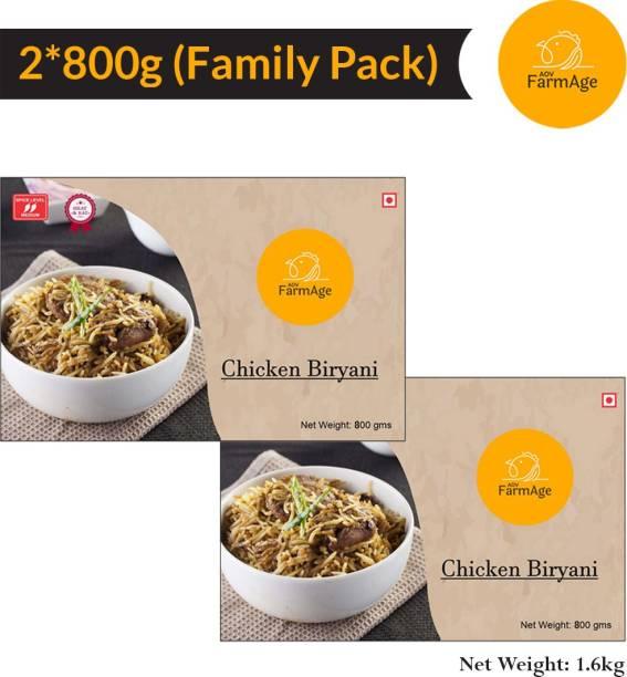AOV FarmAge Premium Chicken Biryani-1600g-Ready to Eat | Instant Food | FarmAge 1600 g