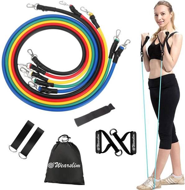 Wearslim Resistance Toning Tube Set of 5, Exercise and Workout Resistance Bands Resistance Tube