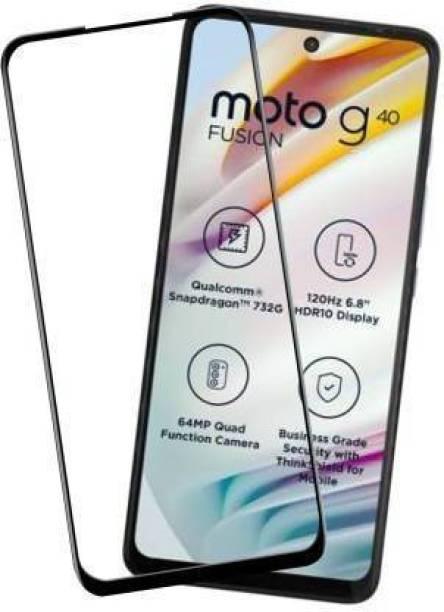 geleser Edge To Edge Tempered Glass for MOTOROLA G40 Fusion