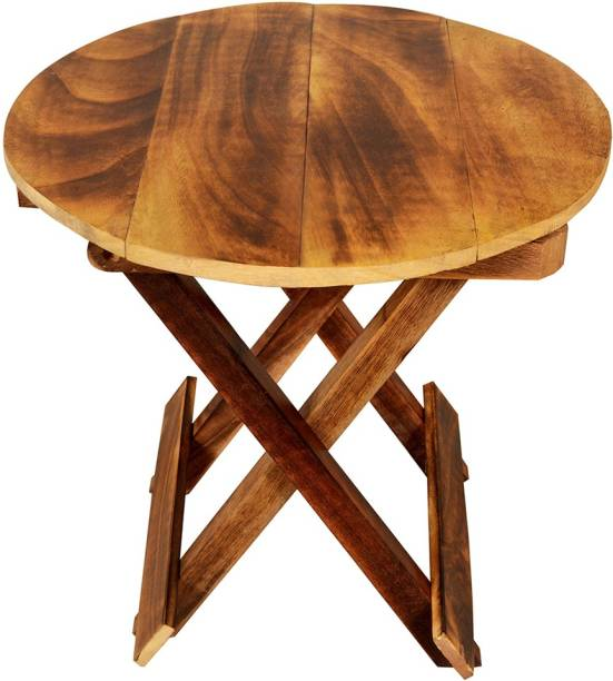 ADORN WORLD Solid Wood Side Table
