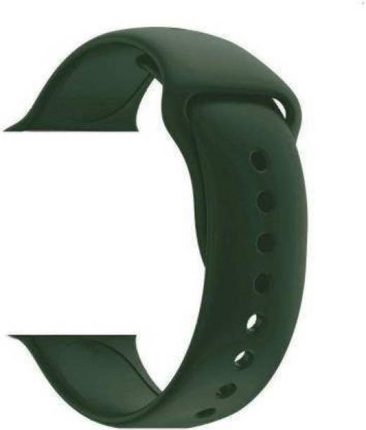 Big Wings Soft Silicone Sport Strap 42mm / 44mm (FOREST GREEN) Smart Watch Strap