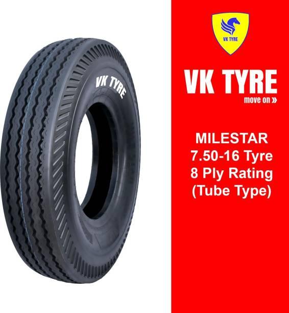 VK TYRE MILESTAR RIB 7.50-16 4 Wheeler Tyre