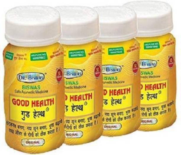leaf veda Dr. Biswas Good Health Ayurvedic 50 Capsules (Pack of 4) (200 Capsules)