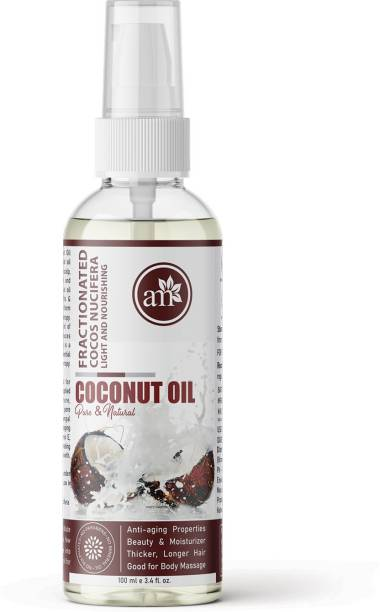 aromamusk 100% Natural & Pure Fractionated Coconut Oil For Skin, Hair, Massage & Aromatherapy