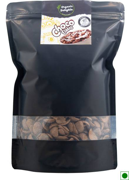 Organic Delights Choco Flakes with Protein & Fibre of 1 Roti* in each bowl**, High in Calcium & Protein, with 10 Essential Vitamins & Minerals, Breakfast Cereals