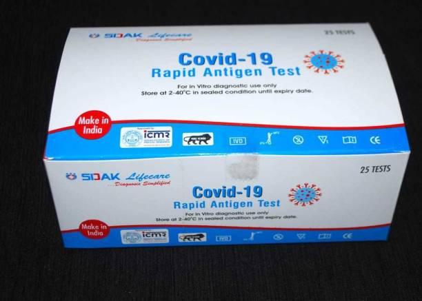 SIDEK covid-19 rapid antigen test kit pack of 25 Antigen Self Test Kit