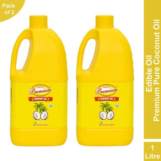 GKD's Premium Pure Coconut Oil, Pack of 2 Coconut Oil Jar
