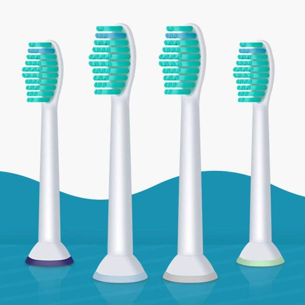 DALUCI 4pcs Replacement Toothbrush Heads for Philips Sonicare ProResults HX6013/66/HX6930/HX9340/HX6950/HX6710/HX9140/HX6530 Electric Toothbrush