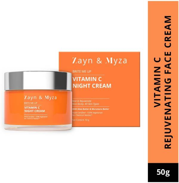 ZM Zayn & Myza Vitamin C Night Cream - Rejuvenate, Brighten & Hydrate Dull Skin Overnight, No Chemical Nasties For All Skin Types