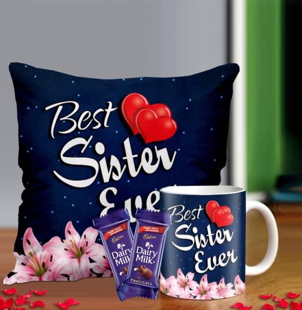 Midiron Gift For Sister, Rakhi gift for Sister, Birthday Gift for Sister, Chocolate gift for Sister, Chocolate Gift Pack Ceramic Gift Box
