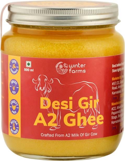 Winter Farms Desi Gir A2 Ghee 500 ml Mason Jar