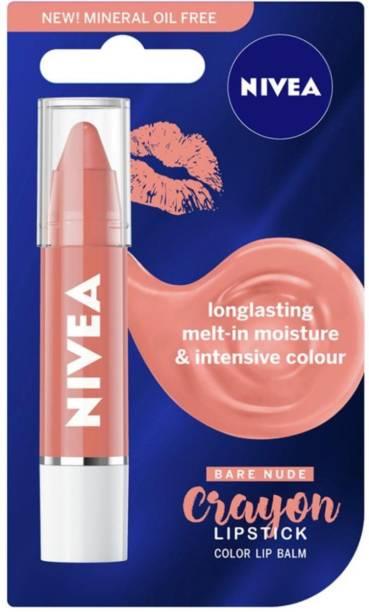 NIVEA Coloron Lip Melt-in Moisture & Color Nude Blush Lip Balm Pack of 1 NA