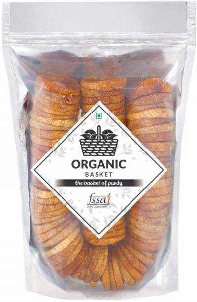 Organic Basket Premium Afghani Anjeer ( Dried Figs ) (Pack of 500GM) Figs