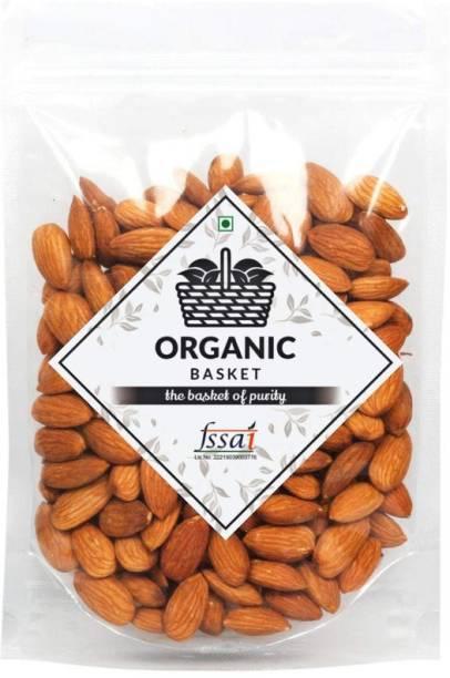 Organic Basket California Almonds (American Badam) (Pack of 500GM) Almonds
