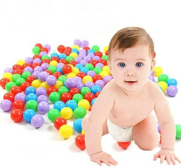 HIM TAX 60 pcs Medium Size Premium Balls Color Balls for Kids Pool Balls Set of 50 Balls for Baby Kids 6 cm Diameter Medium Size Size Ball for Kids Baby Kids Bath Toy