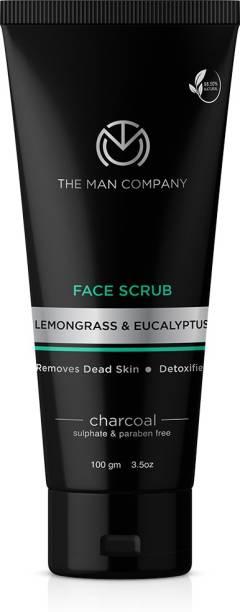 THE MAN COMPANY Charcoal Face Scrub with Lemongrass & Eucalyptus Essential Oils Scrub