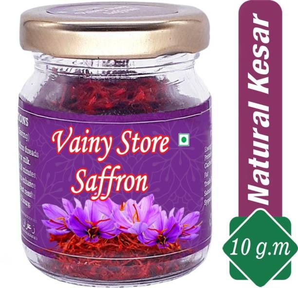 Vainy store Original Long Thread Natural Organic & Handpicked Grade - 1 Saffron / Kesar ( 10 ) gm