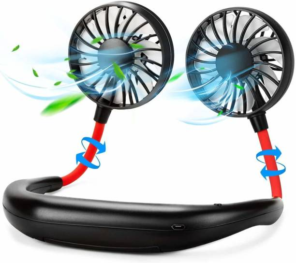 Happysome Rechargeable USB Portable Hanging Neck Personal Sports Fan with 3 Level Air Flow Rechargeable USB Portable Hanging Neck Personal Sports Fan with 3 Level Air Flow USB Fan