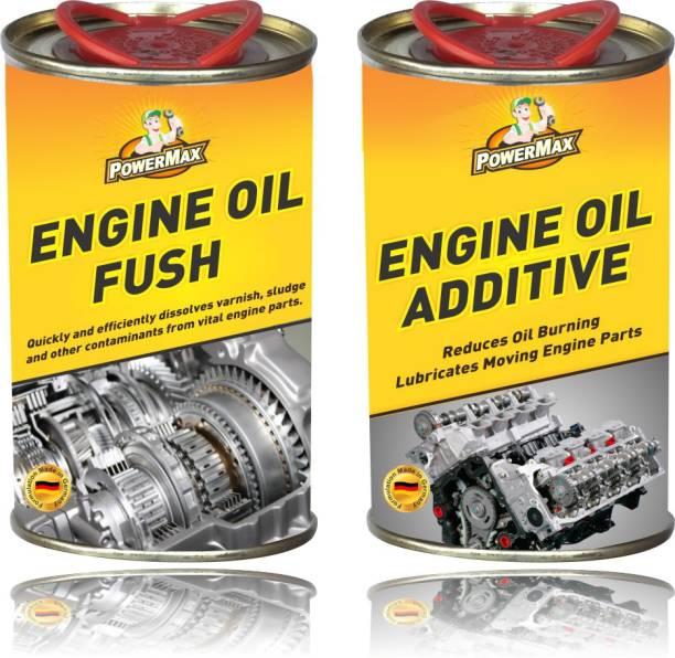 POWERMAX Engine Oil Flush + Engine Oil Additive Petrol/Diesel Engine Engine Cleaner