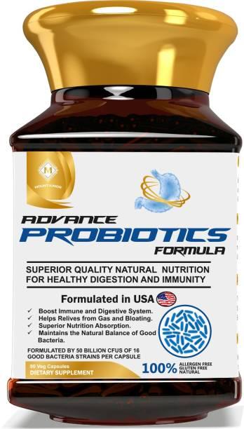 Mountainor Probiotics 50 Billion CFU, 90 Veg Caps. Advance Formula For Men & Women.