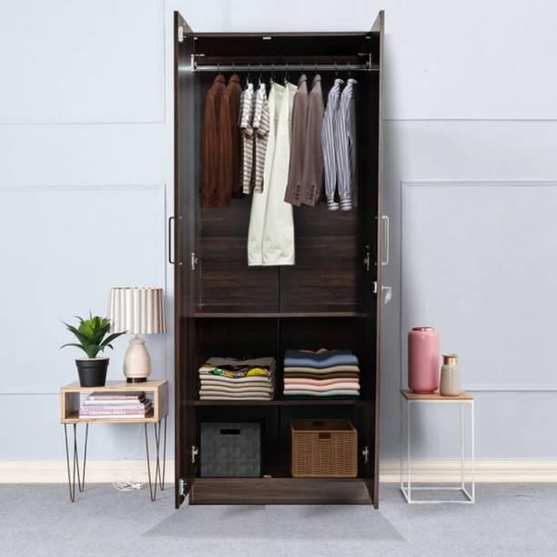 Wakefit Taffeta Wall Anchored Engineered Wood 2 Door Wardrobe