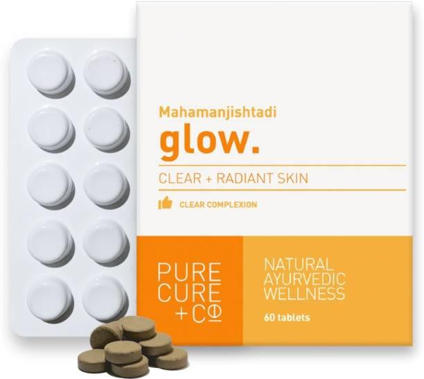 PURECURE+CO Glow:For Healthy Skin, Clear Complexion Ayurvedic Mahamanjishtadi Tablet (60)