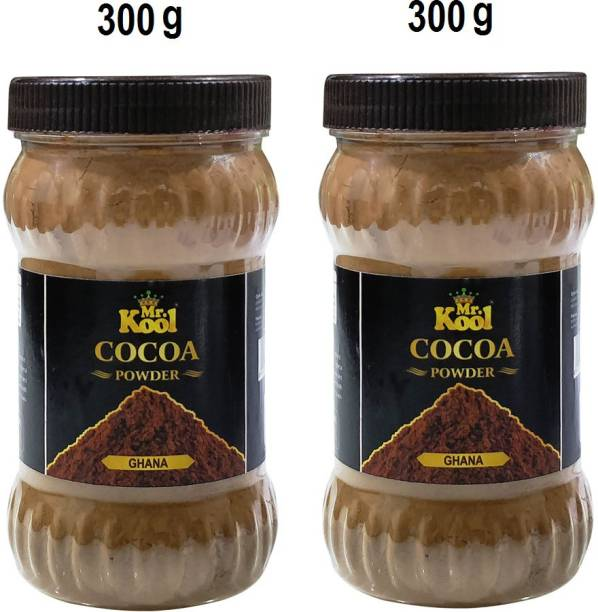 Mr.Kool Natural Ghana Cocoa Powder Combo Of 300g   Baking Combo for Cake Baking   Chocolate Cookie   Choco Shakes 600g Cocoa Powder