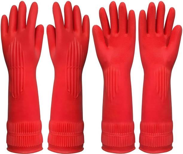 RBGIIT 2 Red Koren rubber Bath Gloves
