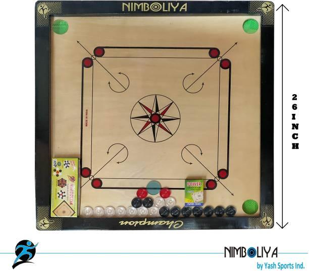 "NIMBOLIYA CHAMPION 26"" BL 66.4 cm Carrom Board"