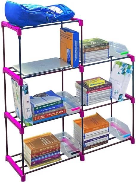 Flipkart Perfect Homes Studio Multi Organiser Pink-7 Book Shelf Metal Open Book Shelf