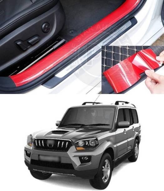 PRTEK 5D Carbon Fiber Red Car Styling Door Anti-collision Strip Stickers Car Door Edge Guards Protector Decoration A111 Matte, Glossy Mahindra Scorpio Side Garnish