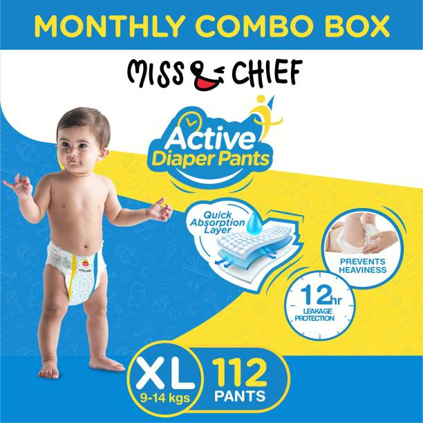 Miss & Chief Active Diaper Pants - Monthly Combo Box - XL