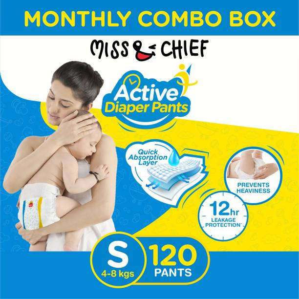 Miss & Chief Active Diaper Pants - Monthly Combo Box - S