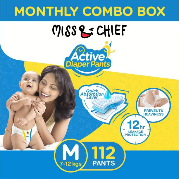 Miss & Chief Active Diaper Pants - Monthly Combo Box - M
