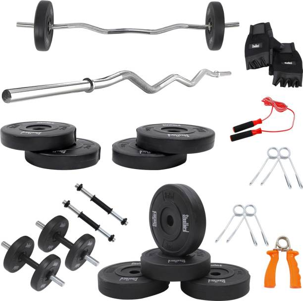 Steelbird 20 kg Combo ( Curl Rod+Dumbell Rod+ With Accessories) Home Gym Combo