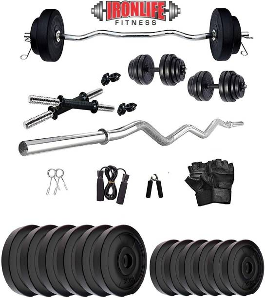 ironlife fitness 30 KG CURL WR Gym & Fitness Kit