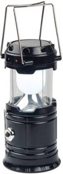 AMENDAS LED Solar Emergency Light Lantern Torch , Usb Mobile Charger, 3 Power Source Solar, Lithium Battery Black Glass, Stainless Steel Hanging Lantern Blue Stainless Steel, Glass Hanging Lantern (14 cm X 9 cm, Pack of 1) Lantern Emergency Light