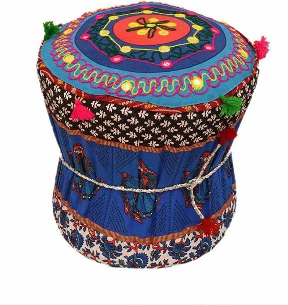 rajasthani handmade mudda Bamboo Pouf
