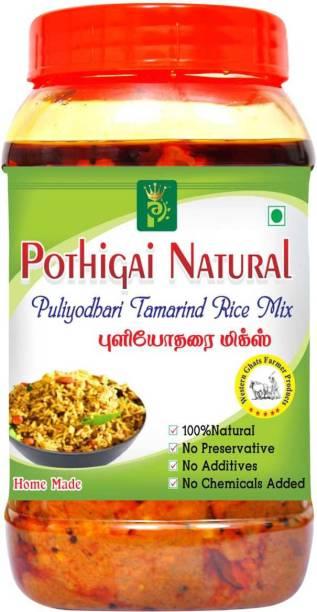 POTHIGAI NATURAL puliyodharai mix 500g Pure Home Made Mix/ No Preservatives/No Additives 100% Natural 500 g