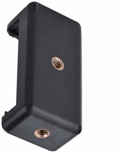 KARTZONS Holder Clip for Mobile Camera Holder and Tripod Mount Holder- Black (Pack of 1) Monopod Kit, Monopod, Tripod, Tripod Kit, Tripod Clamp
