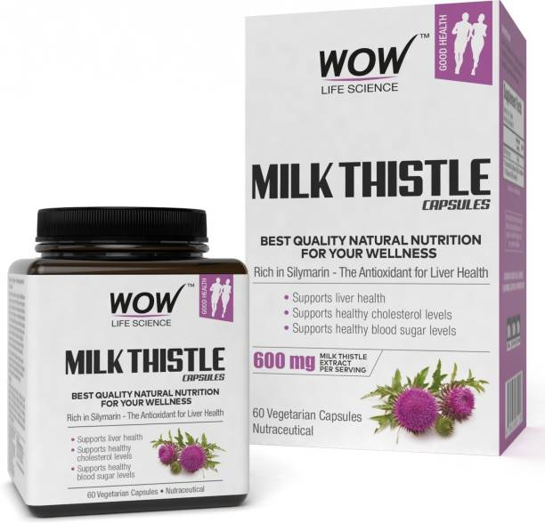 WOW Life Science Milk Thistle Capsules - 600mg