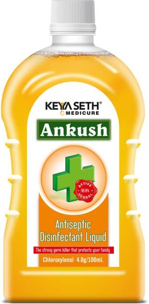 Keya Seth Aromatherapy Ankush Antiseptic Disinfectant Liquid - First Aid, Medical, Multipurpose Personal Hygiene & Home Cleaner, Enriched with Chloroxylenol, Neem, Tulsi & Eucalyptus Essential Oil 100ml Antiseptic Liquid