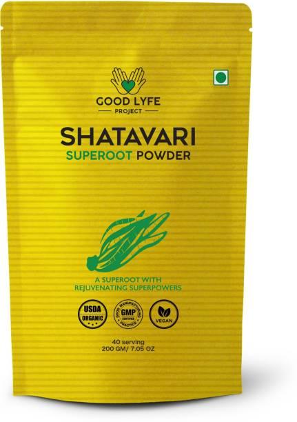 Good Lyfe Project 100% Organic Shatavari Powder Superfood, Immunity Booster USDA and Indian Organic Certified