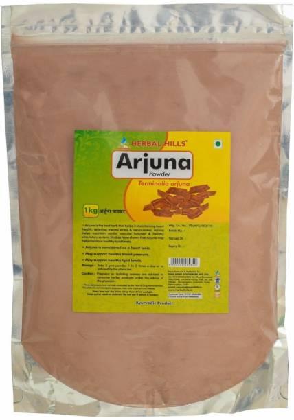 Herbal Hills Arjuna Powder - 1 kg powder - Pack of 4