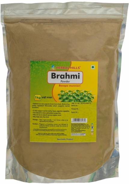 Herbal Hills Brahmi Powder - 1 kg powder - Pack of 4