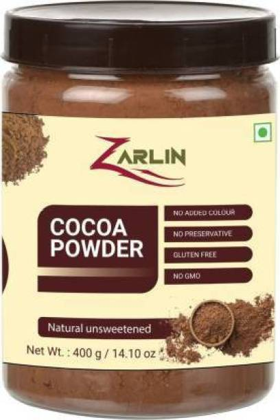 ZARLIN Unsweetened & Natural 400g Cocoa Powder for Making Chocolate Cake Cocoa Solid