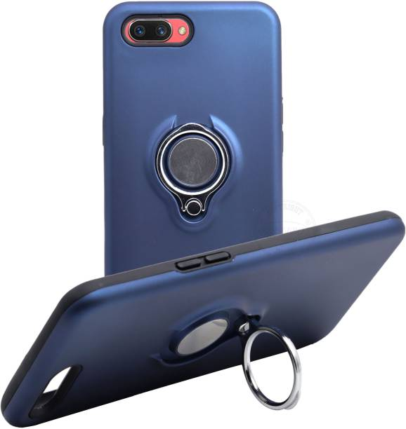 VAKIBO Back Cover for Oppo A3s, Realme C1, Ring Stand Back Cover- Dual Layer -Shock Proof - Strong Case